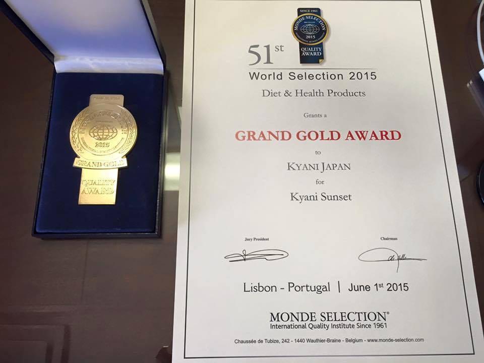 Kyani Sunset Grand Gold Ödülü